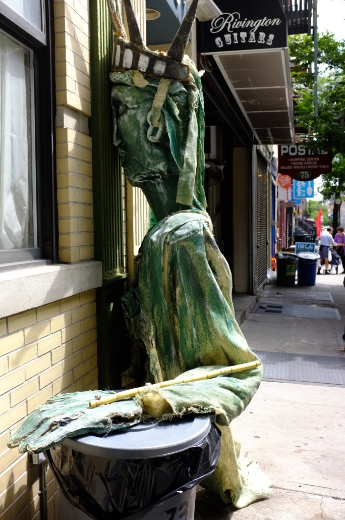 The Statue of Liberty in the East Village