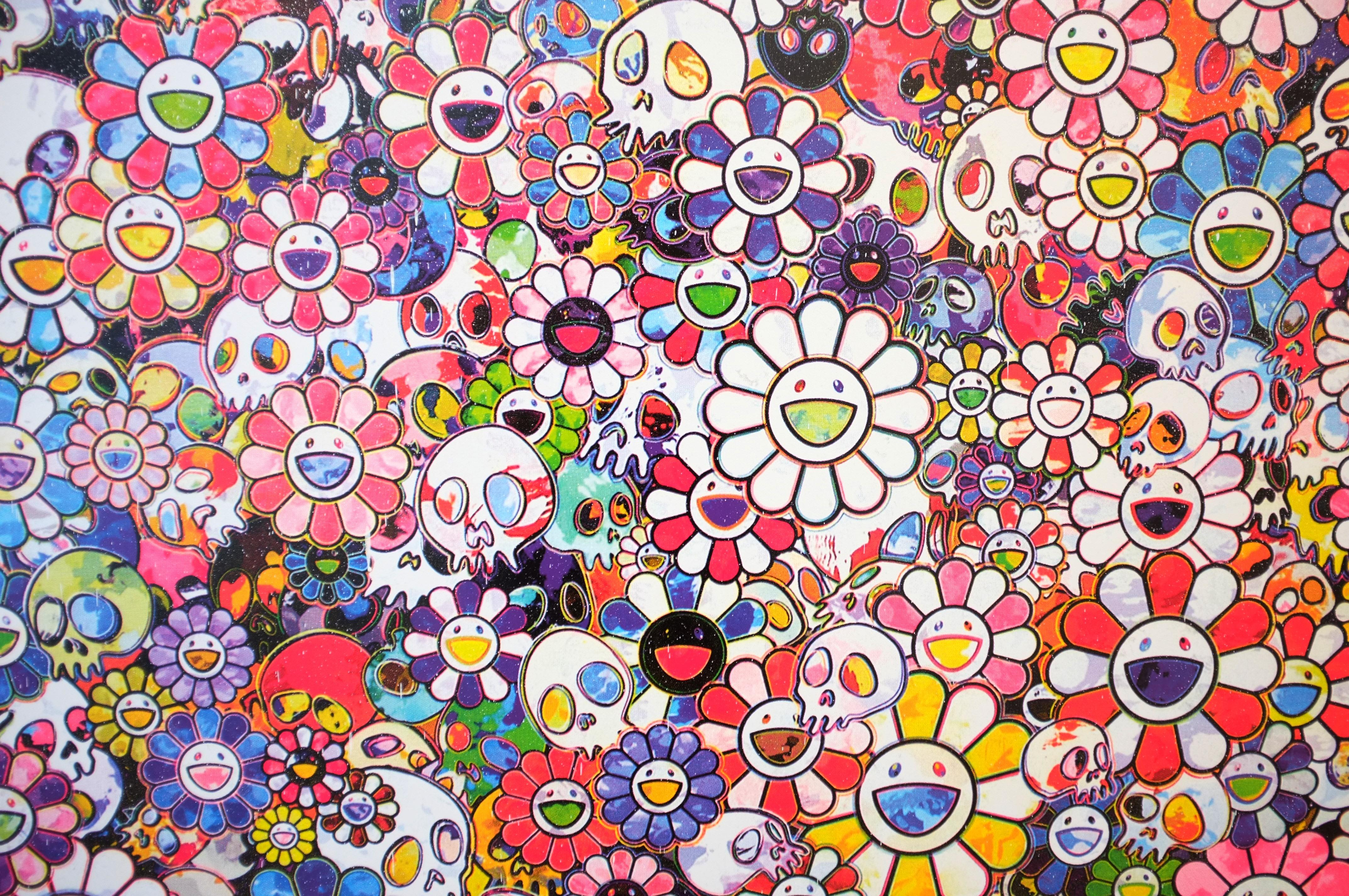 Takashi Murakami – Flowers and Skulls